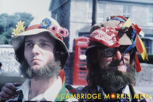 Portrait of two Cambridge Morris Men, 1976
